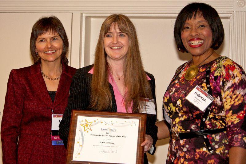 Lara Davidson HCAW Community Service Person of the Year 2013